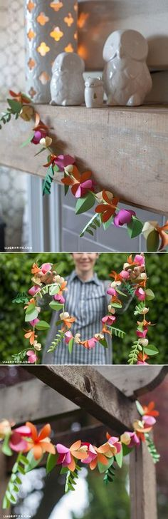 #paperflower #lei #tutorial at www.LiaGriffith.com