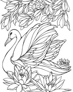 Printable Swan Painting Pages for Girls | K5 Worksheets