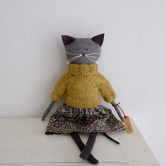■オーガニックコットン キティ Organic cotton Kitty (Black)の画像1枚目