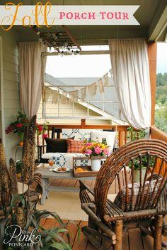 Farmhouse fall porch decor - *PinkPostcard.*