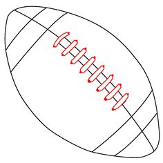 How To Draw A Football – Draw Central - Football Football Signs, Football Crafts, Sports Signs, Football Pitch, Ou Football, Football Helmets, Football Banquet, Football Season, Football Players
