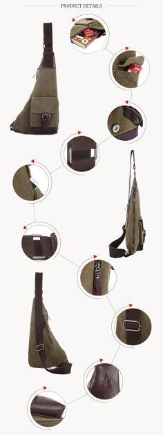 Bag Vintage Canvas, Casual Bags, Canvas Leather, Retro, Shoulder, Artificial Leather, Mid Century