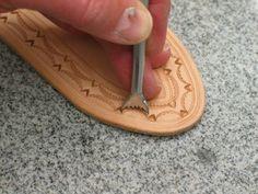 Leather edges
