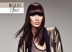 """Metallic Tones"" / Not just for makeup and nail polish - more of this trend being seen in hair color."
