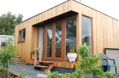 Flat roof, garden studio style Granny Annexe. Designed, constructed and finished by Granny Annexe www.grannyannexe.com