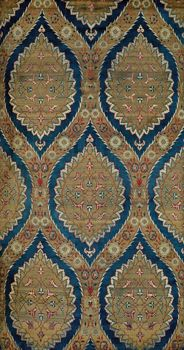 Ottoman Silk Dress Fabric with Ogival Lattice Design with Silk and Metal Threads, 16 Century; © V and A Images/Victoria and Albert Museum, London