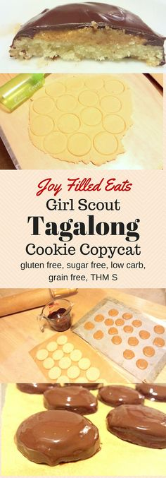 This Tagalong Girl Scout Cookie copycat is gluten free, egg free, grain free, sugar free, low carb, and a THM S. You can enjoy this treat without any guilt!