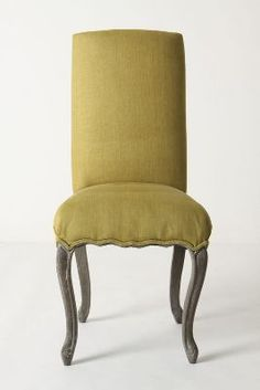 clarissa dining chair--chartreuse--anthro