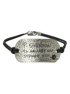 Disney Finding Nemo Sherman Address Cord Bracelet   Hot Topic