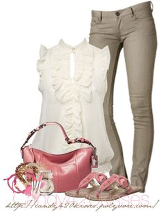 """""""ruffled and pink"""" by candy420kisses on Polyvore"""