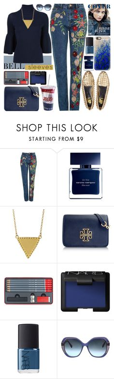 """""""Street Style Trend: Bell Sleeves"""" by barbarela11 ❤ liked on Polyvore featuring Topshop, Narciso Rodriguez, Gorjana, Tory Burch, NARS Cosmetics, Oscar de la Renta and Casetify"""