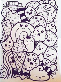 Pin by mariasara on drawing ideas in 2019 doodle art, art drawings, doodles. Cute Doodle Art, Doodle Art Letters, Doodle Art Designs, Doodle Art Drawing, Doodle Art Journals, Cool Art Drawings, Doodle Sketch, Kawaii Drawings, Cute Art