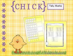 Free tally mark practice with chicks
