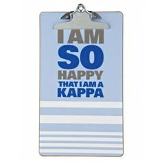 Kappa Kappa Gamma Sorority Clipboard So Happy is a perfect gift for your little. This clipboard will be so helpful during meetings. #KKG #dormify #greek http://www.dormify.com/greek/kappa-kappa-gamma/kappa-kappa-gamma-sorority-clipboard-so-happy