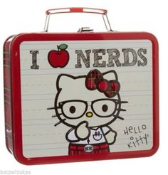 Hello Kitty 'I Love Nerds' Plaid/Tartan Lunch Storage Tin **NOW HALF PRICE!** in Collectables, Animation, Japanese/Anime | eBay