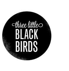 three little black birds logo