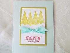 merry & bright handmade christmas cards