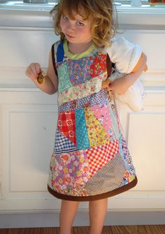 patchwork dress I love patchwork....especially on litle girls!!  I am going to make one of thse!