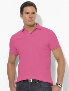ralph lauren outlet store online Men\u0026#39;s Classic-Fit Mesh Short Sleeve Polo Shirt Pink Canada Sale