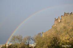 Rainbow over Edinburgh Castle