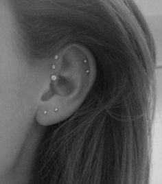 This is how I think I'm going to end up getting my ears pierced. Triple helix, and double (maybe a triple) cartilage