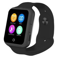Smart Wrist Watch, Geekercity Bluetooth Smartwatch Wrist Watch Phone Support SIM Card with Camera Pedometer Anti-Lost Call Message Reminder for IOS iPhone Android Samsung LG HTC (Black) Samsung Android Phones, Android Watch, Android Smartphone, Android Wear, Android 4, Samsung 8, Apple Iphone, Iphone 5s, Ios Apple