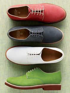 Brooks Brothers Bucks More Green Shoes, Menfashion, Color, Summer Shoes, Oxfords Shoes, Brooks Brother, Men Fashion, Men Shoes, Wardrobes Staples Spring footwear. Nubucks are most definitely a gentlemans wardrobe staple, and having a couple of pairs in great colors can never be a bad thing. Colorful oxford shoes choice of colors - #shoes #men #fashion Colors. I want the green shoes, just cause. Cool summer shoes cool colorful casual mens shoes - perhaps a slight upgrade from the…