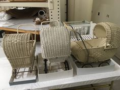 Coming to the end of the doll collection acquisition. Just the cots & prams left Collection Manager, Cots, Prams, Bassinet, Wicker, Museum, In This Moment, Chair, Bed