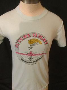 Vintage 1980's Unique Future Flight  T-Shirt 50/50 Soft  Dallas by 413productions on Etsy
