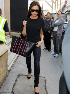 Family affair: Victoria Beckham hopes her family will take a hands on approach to her new store.