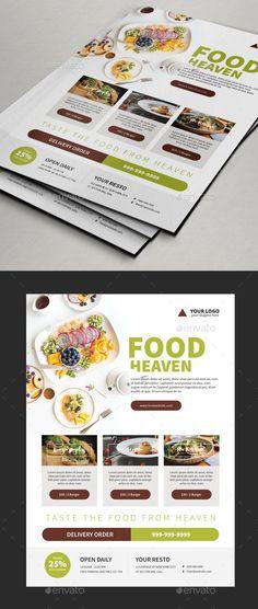 food flyer レストラン チラシ チラシのテンプレート