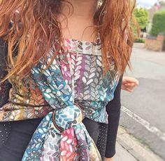 Woven Wings Stockinette Summer Rainbow 4 - 9% Merino 91% Egyptian Cotton