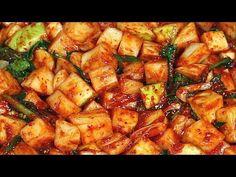 깍두기 담그기, 겨우내 시원하게 먹을 깍두기 준비해둔다면!! 깍두기 맛있게 담그는 법 - YouTube Kimchi, Ratatouille, Drinks, Cooking, Ethnic Recipes, Food, Drinking, Kitchen, Beverages