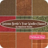 Autumn Bertie's Year Woolies Flannel Fat Quarter BundleMaywood Studios
