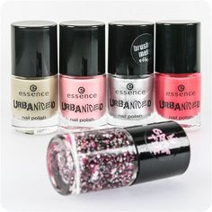 this 5 wanna-have nail polishes are ready to join you on your urban adventures in khaki, fuchsia and pink as well as silver with a trendy brushed metal finish. the top coat with matt and shiny effect flakes in fuchsia, pink, white and black guarantees eye-catching nails.nail_carerevolving_heartsnail_care #essence #essencecosmetics #essencelove #trendediton #urbaniced #limitededition #makeup #longlastinglove #nailpolish #nails #nailsoftheday #notd #manicure #nailswag #instabeauty…