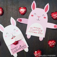 Valentine Bunny Candy Huggers – Kudzu Monster