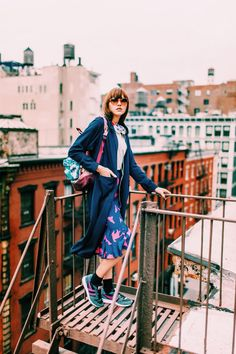 Gola S/S '15 campaign - Great way of pairing sneakers with a midi skirt