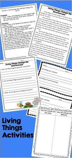 Transferring Energy {Reading Passages and Activities} Reading - animal report template