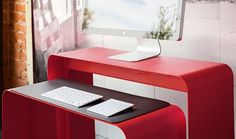 I am digging this compact desk   Turns out modern furniture is one giant rabbit hole of angles and materials