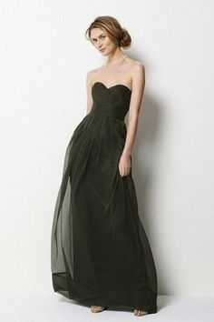 8814cca390f Sweetheart neck with empire waist floor-length chiffon gown…Comes in every  color imaginable. Sweetheart neck with empire waist floor-length chiffon  gown…