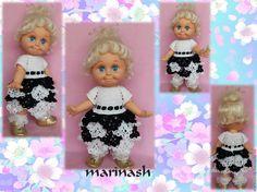 Купить Ажурное платьице для куклы Baby Face - чёрно-белый, одежда для кукол, baby face