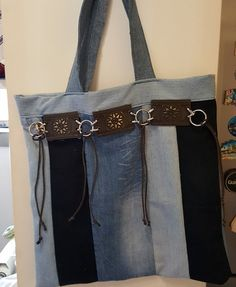 Tote bag in denim by GoBett on Etsy