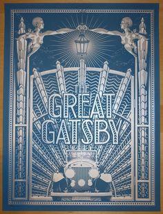 """2014 """"The Great Gatsby"""" - Movie Poster by Tracie Ching"""