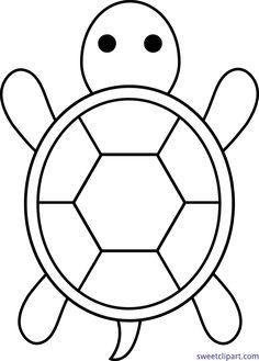 Turtle Lineart Clip Art