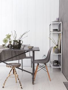 inspirations in warm grey  eames chair