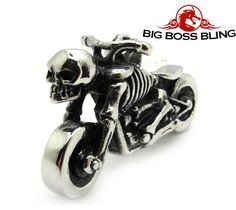 Ghost Skull Rider Pendant Necklace Chain