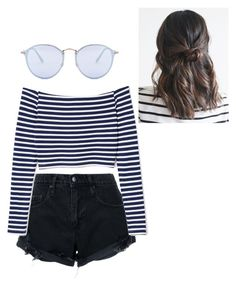 """""""Untitled #163"""" by sophraddd on Polyvore featuring Nobody Denim and Ray-Ban"""
