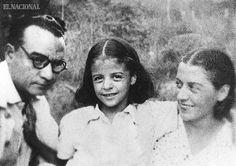 Rómulo Betancourt, Virginia Betancourt y Carmen Valverde de Betancourt.