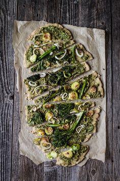Very Green Vegan Pesto Pizza