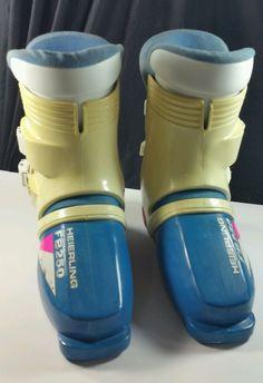 Ski Boots Heierling FB 250 Blue Cream Pink Sz 4 Made in Italy $120.00 Retail #Heierling